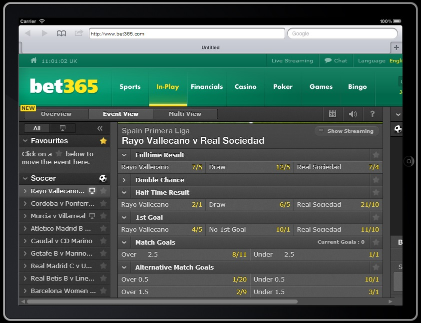 bet365 watch live football